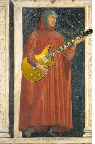Petrarch and his Favorite Axe, after a fresco by Andrea del Castagno
