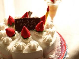 Handmade Felt Birthday Cake