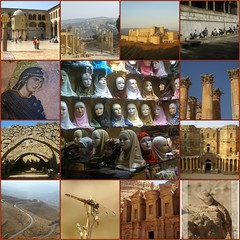 impressions - syria and jordan (atsjebosma) Tags: city fdsflickrtoys asia desert theatre dragonfly roman maria mosaic religion culture mosque lizard jordan monastery syria souk pillars kingshighway midleeast cracdeschevaliers