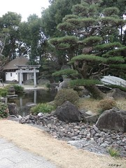 In Takoshima in Japan (Shaima82_4) Tags: bridge lake tree japan rocks ship nippon 20 tample maru swy swy20 takoshim