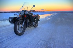 Sunset on the Iceroad I (Wiking66) Tags: bike perfect gulf pentax sweden picture motorcycle russian ukrainian distillery hdr sidecar dnepr patrik smrgsbord motorcykel goldenglobe lule norrbotten engman tonemapped flickrsbest k10d pentaxk10d mt16 aplusphoto wowiekazowie ilovemypic bottnia spiritofphotography showmeyourqualitypixels