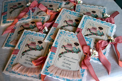 Birthday Tea Party Invitations... (fleamarketstudio) Tags: flowers collage vintage scrapbooking birthdayparty collageart crafty teaparty invitations shabbychic vintageinvites
