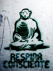 Respira consciente (WallWriter) Tags: street urban streetart stencils art wall stencil buenosaires arte urbanart writers writer urbano walls aerosol plantillas plantilla respiro estarcido estarcidos wallwriter