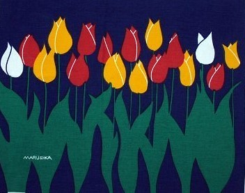 Marushka - tulip row (blue)