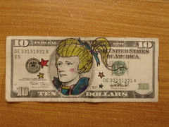 Rainbow Brite Hamilton (Joe D!) Tags: money rainbow d hamilton joe government presidents tender defaced dollars brite joed refacing