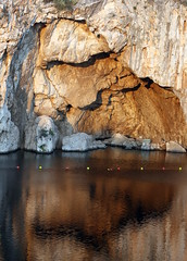 Narcissus... (poly_mnia) Tags: friends lake color colour reflection water colors rock reflections rocks colours friendship athens greece reflexions vouliagmeni lakevouliagmeni dearflickrfriend geniiloci