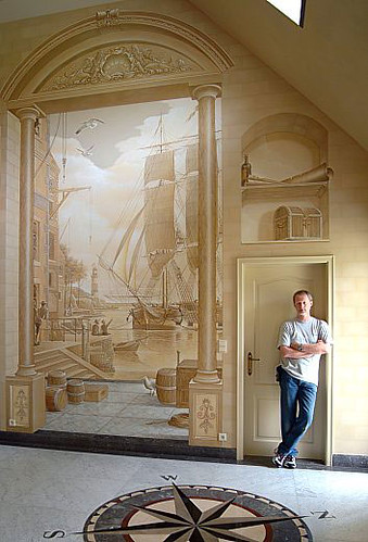 2593372776 91bea9e83c Amazing New Take on House Decoration 3D Wall Paintings