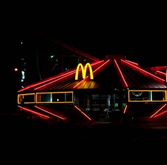Roswell McDonalds (sundero) Tags: newmexico lights funny neon alien roswell tourist ufo mcdonalds flyingsaucer silliness spceship
