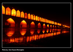 33 Pol Bridge-33 (Amir Kazemi) Tags: bridge reflection night canon iran 33 amir esfahan   isfahan      kazemi   conjunction   400d mostaghim       safaviyeh
