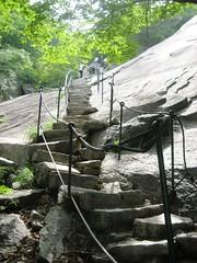 Baegundae Stairs at Bukhansan