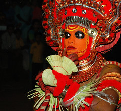 Theyyam at Kannur 2 (Anoop Negi) Tags: world travel girls red portrait people india color colour men art tourism girl yellow festival painting photography for photo dance amazing eyes women essay bravo paint place dancing image photos action body expression gorgeous indian picture culture thoughtful traditions kerala images best exotic masks human photograph hues journey classical bodypainting tradition anoop journalism negi theyyam kannur photosof cannanore ezee123 painteddancers bestphotographer theunforgettablepictures imagesof anoopnegi