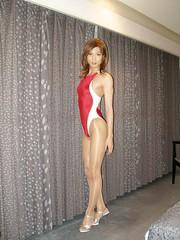 Arena swimwear (Nux Red)_14 (Kyoko Matsushita) Tags: swimsuit crossdresser kyoko matsushita swimwear