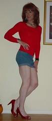 Red Top (Elizabeth Heatherton) Tags: tv cd tranny transgendered crossdresser transvetite