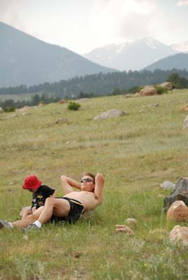 relaxing in moraine park, rmnp