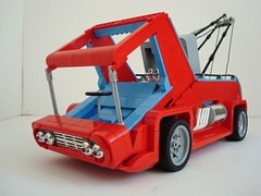 LUGNuts Build Challenge...George Barris' Li'l Redd Wrecker! (Lino M) Tags: red car truck lego little chrome 1970s tow lino towtruck towing lugnuts lightblue wrecker georgebarris haulinass buildchallenge lilreddwrecker showrod 70sshowrod