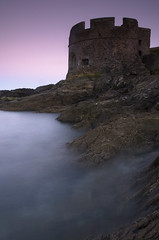 Pendennis Head, Falmouth, Cornwall, UK (jogorman) Tags: uk sunset england tower castle monument water stone port river point flow coast europe long exposure cornwall waves fort head tide device atlantic explore wash fortification falmouth tidal turret ebb martello kernow fal pendennis blueribbonwinner explored jamesogorman cornishsunsets revivedcornishstannaryparliament