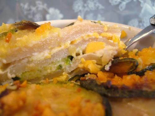 Lasagne rosa alle zucchine e Mimolette