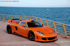 Gemballa Mirage GT-3 (Julien Rubicondo Photography - julienrubicondo.com) Tags: sea orange black germany harbor rollsroyce montecarlo monaco cayenne turbo porsche mirage gt carbon phantom luxury supercar carrera supercars prinz gemballa gt750 gt650