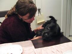 Chewie was adorable (SanFranAnnie) Tags: jen chewie dinnerwchrisjen