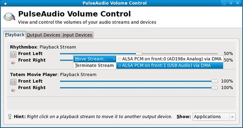 Fig 14. Moving audio streams to other devices