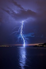 Thunderstorm over Bergen (Sprengstoff72) Tags: summer 3 storm reflection nature water weather norway electric night norge interestingness power cloudy sommer july illuminated bolts thunderstorm lightning juli bergen 2008 lyn thunder arcs natt lightningstrike asky forceofnature nordnesparken lightningbolts explored bildekritikk naturalforce photoartbloggroup