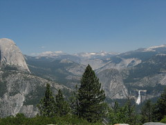 On top of the Glacier Point, Half Dome