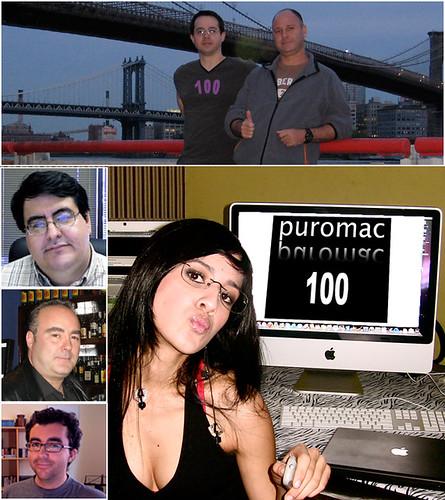 En esta foto todos los que participaron en Puromac 100. Empezando arriba, Flavio y Fede, Giannina, Emilcar, Sagit y Karl Egas.