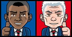 Manga Barack Obama & John McCain