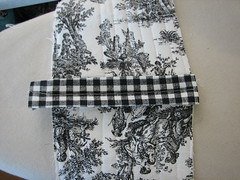 fold under edges and stitch