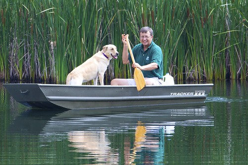 Cody & Uncle Curt Cruising the Pond