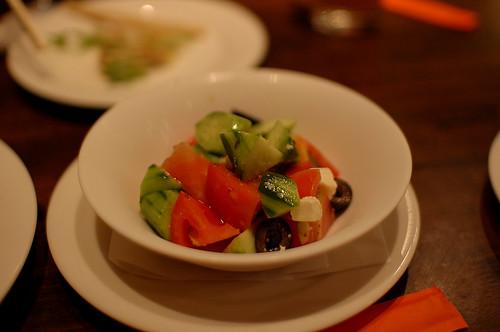 完熟トマトとモッァレラチーズのポリポリサラダ