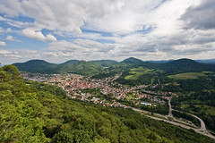 Annweiler as seen from the Sommerfelsen