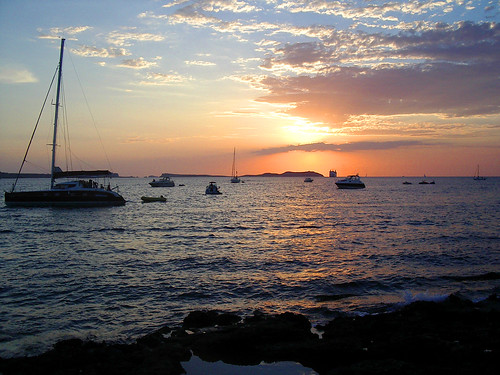 IBIZA - SANT ANTONI - SUNSET AT CAFE DEL MAR (Photo by Punxutawneyphil)