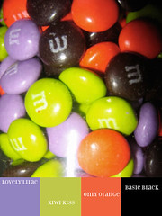 m&ms halloween colors