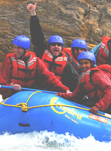 Michael Cayley goes white water rafting