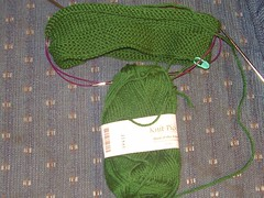 green hat in progress