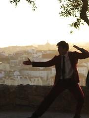 Kung-fu fighting at Castelo de São Jorge, Lisbon