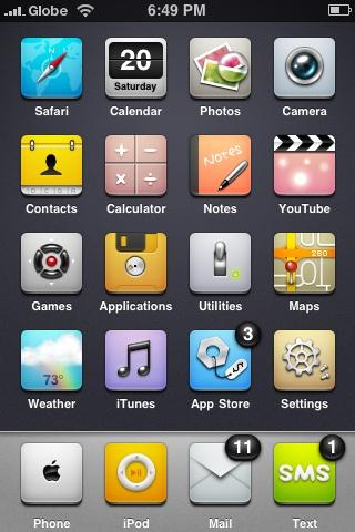 iphone date icon. ut different icon design