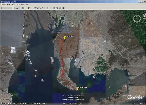 自転車の 自転車 地図 gps : GPSロガーと一緒に自転車で半島 ...