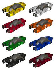 XR-21: Colour Variants (Stefan Schindler) Tags: lego space lcad moc ldraw spacefighter foitsop xr21