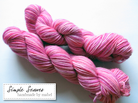 Superwash Sock Yarn - Pink Berries