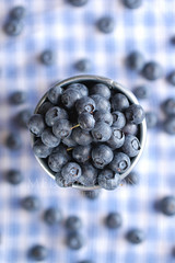 feeling blue? (Ms_evinrude) Tags: blue summer stilllife food kitchen fruit dof ingredients topview props blueberries foodstyling minibucket