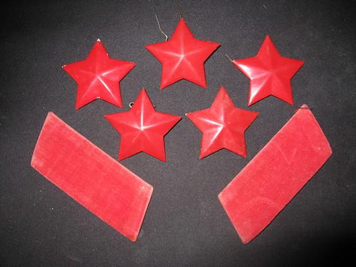 五个红星对两个领章