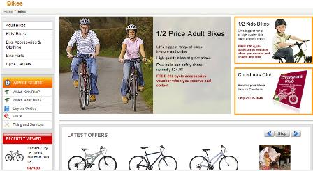 Halfords product categories