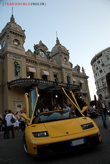 Lamborghini Diablo GT @ Casino de Monte-Carlo (Julien Rubicondo Photography - julienrubicondo.com) Tags: red orange money black paris yellow club night de hotel bay spider italia ferrari casino spyder montecarlo monaco diablo carlo monte gt prada filet lamborghini scuderia gallardo f430 roadster htel 60l affolter