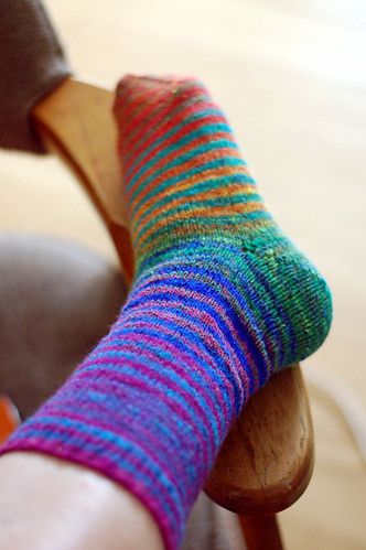 noro stripey sock - one down