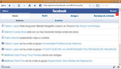Facebook versión Iphone