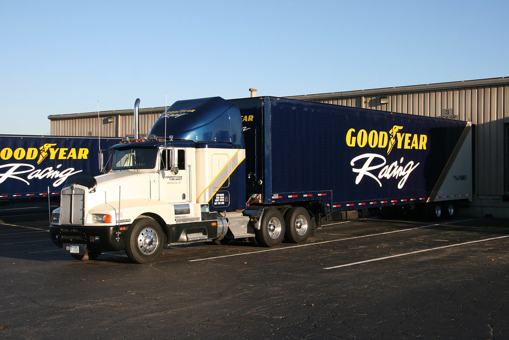 Goodyear racing Kenworth