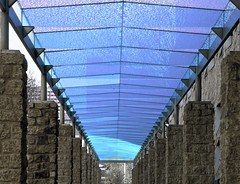 Covered Walkway Outside City Hall (Kerri's Photos) Tags: blue buildings downtown walkways iphotooriginal abigfave
