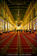 Umayyad Mosque in old Damascus (MahmoudShuairi) Tags: old red people history carpet gold hall islam mosque syria 5d damascus soe prayers siria mahmoud mesquita umayyad moslems  umayyadmosque caon supershot platinumphoto anawesomeshot aplusphoto ysplix theunforgettablepictures goldstaraward goldenheartaward shuairi